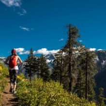 Hiking near Leavenworth WA on a summer day