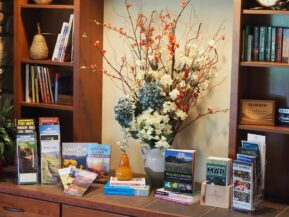 Guest information center for maps, brochures and guidebooks